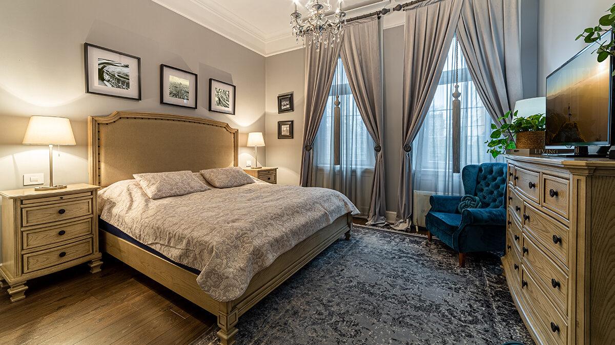 Dormitor clasic, fotografie interior